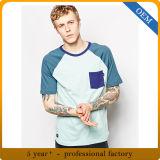 In het groot Nieuwe Katoenen van het Ontwerp Mens Raglan T-shirt