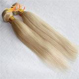 軽いブロンドカラーベトナムの人間の毛髪の拡張直毛
