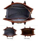 Klassischer geprägter Krokodil-Fonds-echtes Leder-Büro-Dame-Handtaschen-Schultaschen-Vorhängeschloßtote-Beutel
