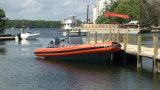 Barco inflável rígido do reforço do barco/fibra de vidro de pesca de Aqualand 30feet 9m (RIB900B)