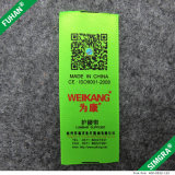 Cetim Eco-Friendly etiqueta de cuidado impressa para a roupa