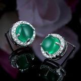 925 pendientes naturales del cristal de Gueen de la plata esterlina de las mujeres