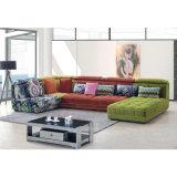 Sofá secional 809 da tela da forma colorida moderna de U