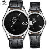 남자와 여자를 위한 형식 한 쌍 시계