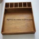 vers le haut de la boîte-cadeau en bois artistique Shinning de boîte à cigares de fini du marché