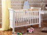 Weiße Farben-hölzernes Baby-Krippe-Baby-Bett (M-X1021)