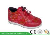 Цветок китайского типа вышитый ягнится ботинки стабилности детей идущих ботинок здоровья