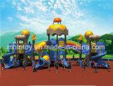 Équipement en plastique HD-Tse003 de glissière de cour de jeu extérieure d'enfants