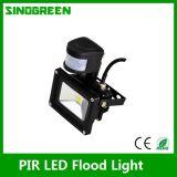 방수 PIR LED 플러드 빛 30W
