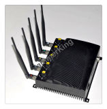 携帯電話の妨害機; 静止した5つのバンド2g、3G携帯電話+WiFi調節可能な妨害機かブロッカー