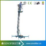 plataforma de trabalho vertical elétrica móvel do mastro aéreo de 12m