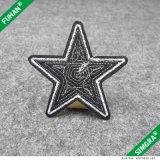 Mochila forma de la estrella cosen en el bordado de parches