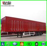 Twee/TriAs Flatbed/Gooseneck Box Van Truck Trailer met 40t - 60t de Capaciteit van de Lading