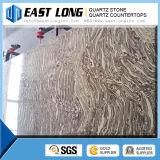 Pedra artificial cinzenta por atacado de quartzo da cor do mármore da laje da pedra de quartzo