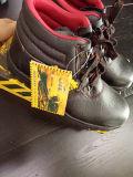 Zapatos de seguridad de cuero de la PU para la construcción