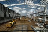 Construction préfabriquée de construction d'entrepôt de bâti en métal