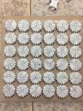Azulejo de mosaico del mármol de la flor blanca