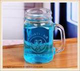 Copo de vidro para beber frio de 400 ml com tampa metálica