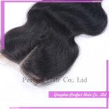 本当の栄光の毛ボディ波の閉鎖のインドのバージンの毛のぬれた、波状の閉鎖