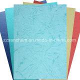 Het hoogste Verkoop Gekleurde In reliëf gemaakte Document van het Leer Korrel