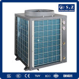 サーモスタット24~239の立方体のメートル水たくわえ45deg c Titanuim 19kw/35kw/70kw105kw R410Aの空気ソースヒートポンプの給湯装置の鉱泉のプール