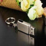 Kundenspezifische grelles Laufwerk Firmenzeichen-Metallschwenker-Schlüsselkette USB-2.0