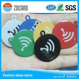 13.56MHz金属のCmykプリント円NFCのステッカーの書き込み可能な反金属NFCの札、
