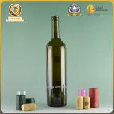 空想750mlは空けるワイン(082)のための栓をされたガラスアルコール飲料のびんを