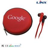 Auricular promocional de mirada perfecto del cable plano de Google con el micrófono