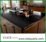 Pierre artificielle noire éventuelle Worktop de quartz