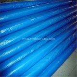 Bâche de protection imperméable à l'eau enduite de PE bleu en gros en roulis
