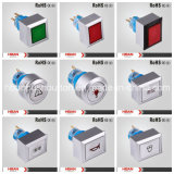 Hban CER RoHS (22mm) Square Momentary Latching Kopf-Illumination Plastic Switch