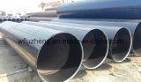 Tubo de acero redondo de la dimensión de una variable LSAW de la sección, línea tubo revestida negra