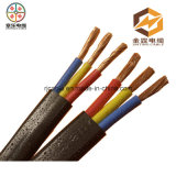 Dos núcleos flexíveis os mais baratos do cabo 2 de Rvv do preço da fábrica fio de cobre elétrico flexível