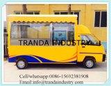 Coche de comida fría del Bbq Ovenmobile de los quioscos de Roasterpizza del maíz con los toldos