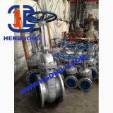 Soupape à vanne pneumatique de cale de bride d'acier inoxydable de dispositif d'entraînement de norme ANSI