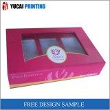 Розовая коробка бумажной коробки напечатанная
