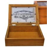Caja de regalo de madera cubierta de la caja de cristal, caja de embalaje de madera