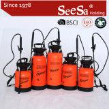 손 압력 스프레이어 Seesa 8L 플라스틱 원예용 도구 공기 압축 설명서 펌프