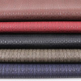 Ecoはワニのトカゲの質のハンドバッグ材料PUの総合的な革に蹄鉄を打つ