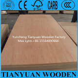 リンイー4*8ft Bintangor/Okoume Veneer Commercial Plywood Poplar Core Furniture Plywood