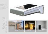 Lumière solaire de lampe du mur DEL de mouvement de fonctionnement duel de l'usine ISO9001