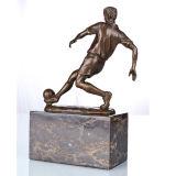 Figura estatua TPE-737 de los deportes de la escultura de bronce de Deco del hogar del futbolista