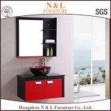 Самомоднейший пол - установленная самомоднейшая тщета ванной комнаты PVC с шкафом зеркала