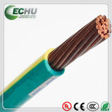 Fio elétrico da isolação do PVC