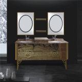 標準的な壁に取り付けられた二重洗面器の鋼鉄浴室用キャビネット