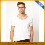 Maglietta di bianco del cotone degli uomini all'ingrosso 100