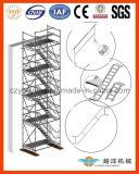 Sistema de alumínio da escada do andaime com projeto esperto