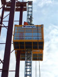 Het Hijstoestel van de bouw met Enige of Dubbele Kooien voor Materiaal of Passagier