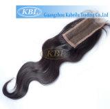 Grampo cinzento brasileiro do Weave do cabelo da alta qualidade no fechamento superior